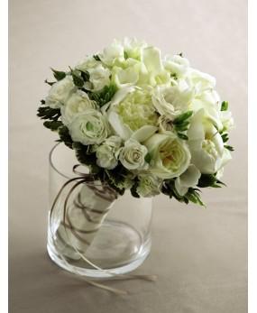 Bouquet dans un vase opaque