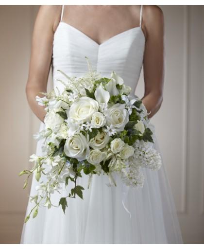 Bouquet dans un vase transparent