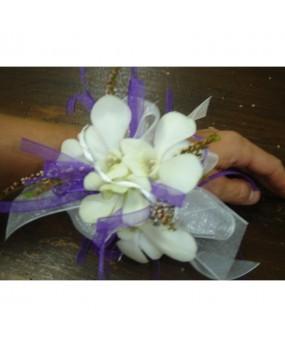 bracelet orchidée blanche
