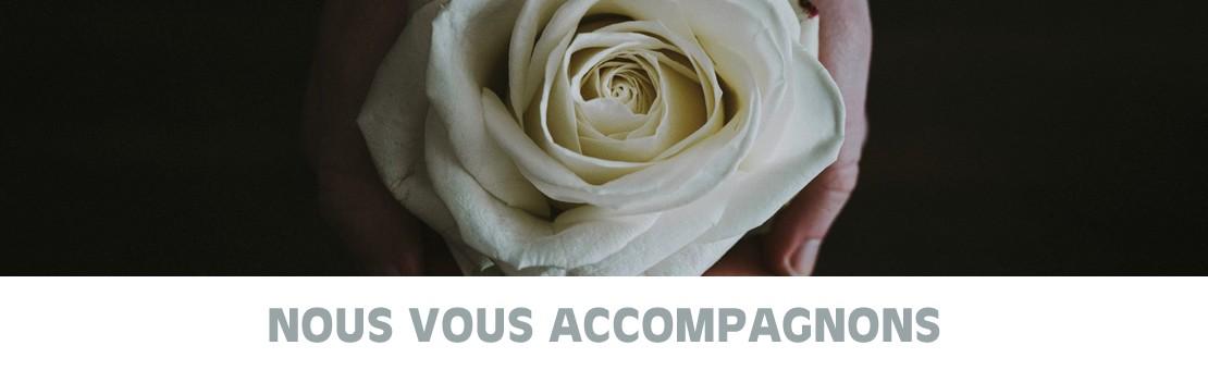 Fleurs foliole arrangements funéraire
